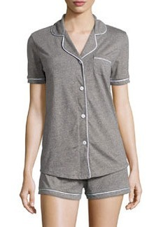 Cosabella Bella Two-Piece Short Pajama Set, Heather Gray