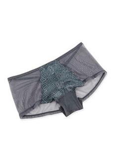Cosabella Delano Mesh Hot Pants, Anthracite