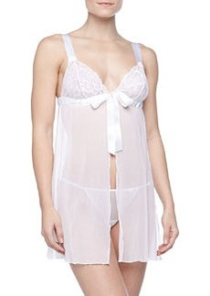 Cosabella Fetherston Lace/Mesh Babydoll with Thong