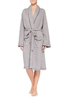 Cosabella French Terry Hotel Robe, Heather Gray/Black
