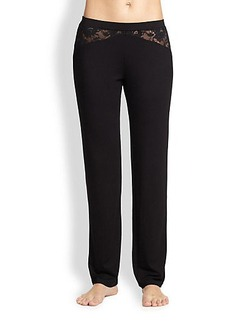 Cosabella Never Say Never Lace-Inset Sleep Pants