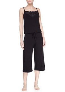 Cosabella Volute Jersey Lounge Jumpsuit, Black