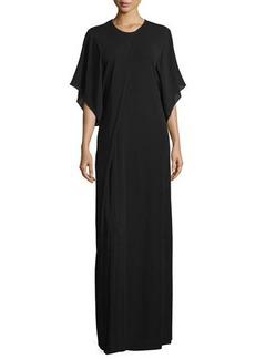 CoSTUME NATIONAL 3/4-Sleeve Round-Neck Maxi Dress