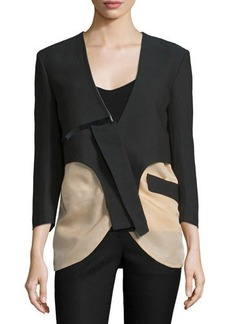 CoSTUME NATIONAL 3/4-Sleeve Two-Tone Jacket