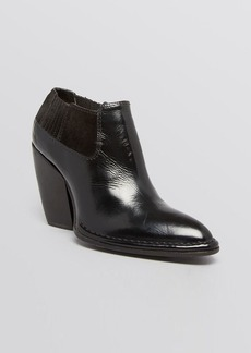 CoSTUME NATIONAL Ankle Booties - Gored Block Heel