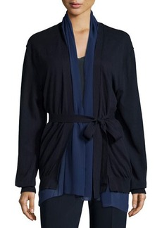 CoSTUME NATIONAL Belted Open-Front Cardigan