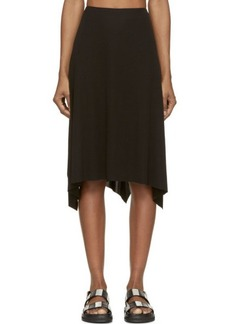 Costume National Black Draping Skirt
