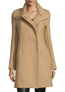 CoSTUME NATIONAL Button-Front Textured Trench Coat