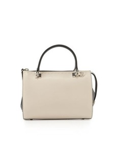 CoSTUME NATIONAL Colorblock Leather Small Satchel Bag
