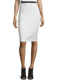 CoSTUME NATIONAL Contrast-Waist Pencil Skirt