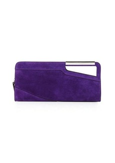 CoSTUME NATIONAL East-West Suede Clutch Bag