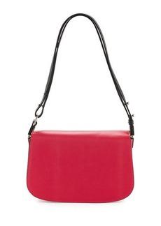 CoSTUME NATIONAL Flap-Front Leather Shoulder Bag