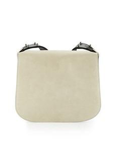 CoSTUME NATIONAL Flap-Front Suede & Leather Shoulder Bag