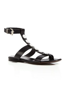 Costume National Flat Sandals - Ankle T Strap