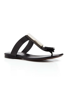 Costume National Flat Thong Sandals - Classic