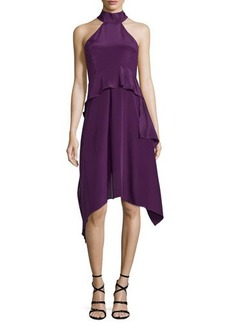 CoSTUME NATIONAL Halter-Neck Tiered A-Line Dress