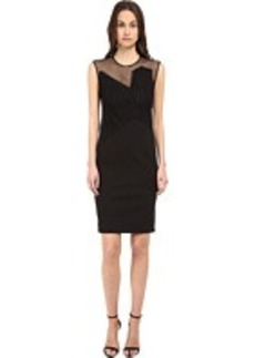 CoSTUME NATIONAL Illusion Neckline Sheath Dress