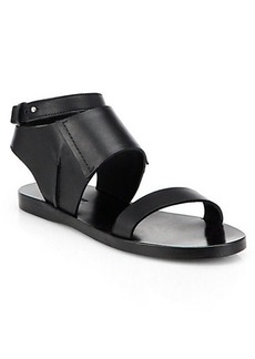 Costume National Leather Ankle-Strap Sandals