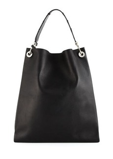 CoSTUME NATIONAL Leather Tote Bag W/Flat Studs