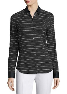 CoSTUME NATIONAL Long-Sleeve Button-Front Printed Shirt