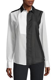 CoSTUME NATIONAL Long-Sleeve Colorblock Shirt