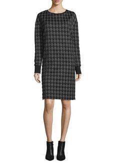 CoSTUME NATIONAL Long-Sleeve Diamond-Print Dress