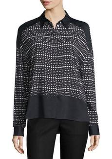 CoSTUME NATIONAL Long-Sleeve Dot-Striped Shirt