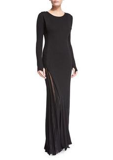 CoSTUME NATIONAL Long-Sleeve Sheer-Inset Maxi Dress
