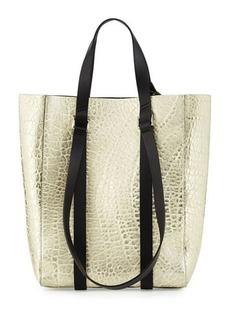 CoSTUME NATIONAL Metallic Leather Tote Bag