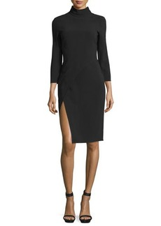 CoSTUME NATIONAL Mock-Neck Lace-Back Sheath Dress