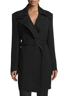 CoSTUME NATIONAL Notched-Collar Belted Trench Coat