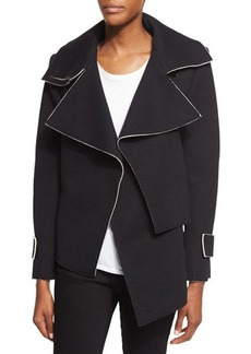 CoSTUME NATIONAL Oversized-Collar Draped Jacket