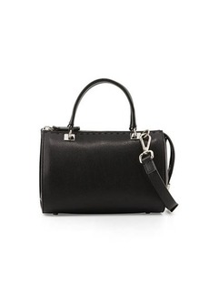 CoSTUME NATIONAL Pebbled Leather Small Satchel Bag