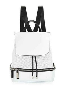 CoSTUME NATIONAL Perforated Leather Backpack