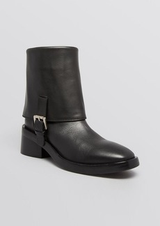Costume National Platform Booties - Foldover Pant Cuff