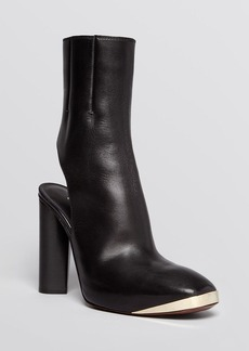 Costume National Platform Booties - Open Heel High Heel