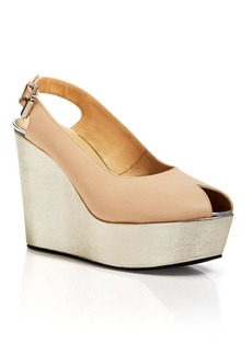 Costume National Platform Wedge Sandals - Slingback