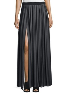 CoSTUME NATIONAL Pleated Maxi Skirt W/Slit