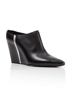 Costume National Pointed Toe Mule Wedge Booties - Hidden Wedge