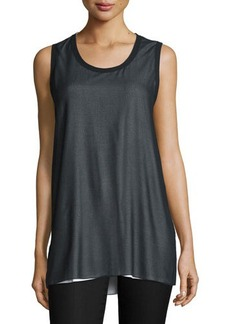 CoSTUME NATIONAL Scoop-Neck Layered Tank