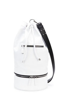 CoSTUME NATIONAL Secchiello Sport Shoulder Bag, White