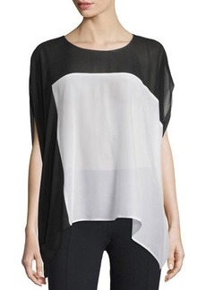 CoSTUME NATIONAL Short-Sleeve Colorblock Top