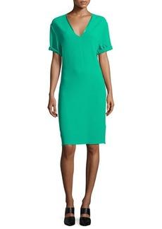 CoSTUME NATIONAL Short-Sleeve V-Neck Sheath Dress