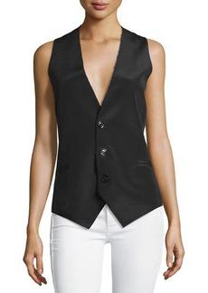 CoSTUME NATIONAL Sleeveless Button-Front Waistcoat