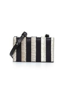 CoSTUME NATIONAL Striped Snakeskin Shoulder Bag