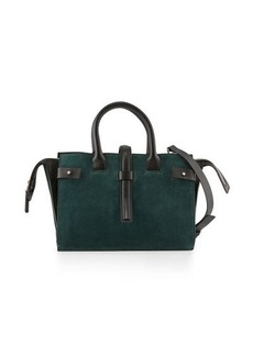 CoSTUME NATIONAL Suede & Leather Tote Bag