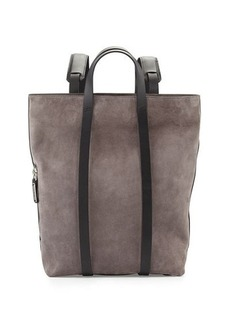 CoSTUME NATIONAL Tokyo Slouchy Suede Backpack, Gray