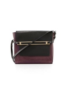 CoSTUME NATIONAL Two-Tone Leather Shoulder Bag