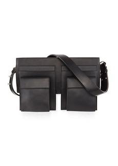 CoSTUME NATIONAL Utility-Style Leather Shoulder Bag