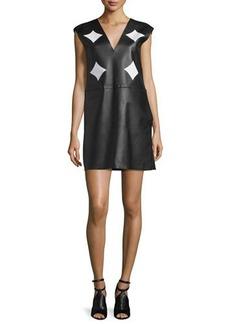 CoSTUME NATIONAL V-Neck Combo Shift Dress